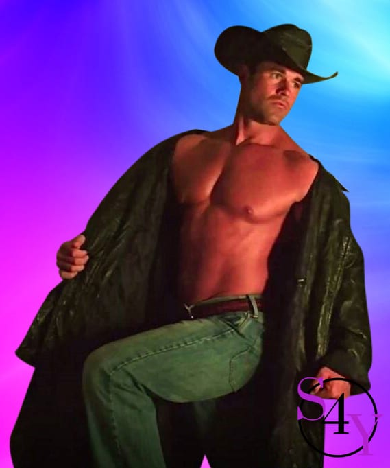 sexy cowboy male stripper