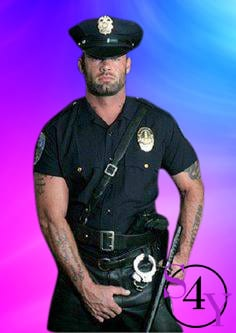Bend Male Stripperspolice officer