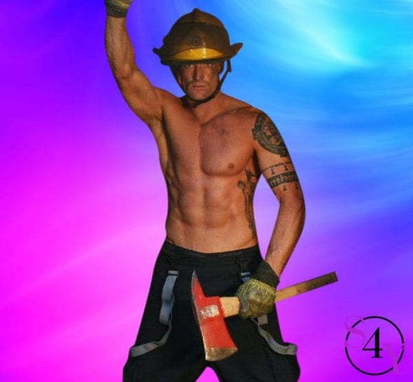 fire man male stripper
