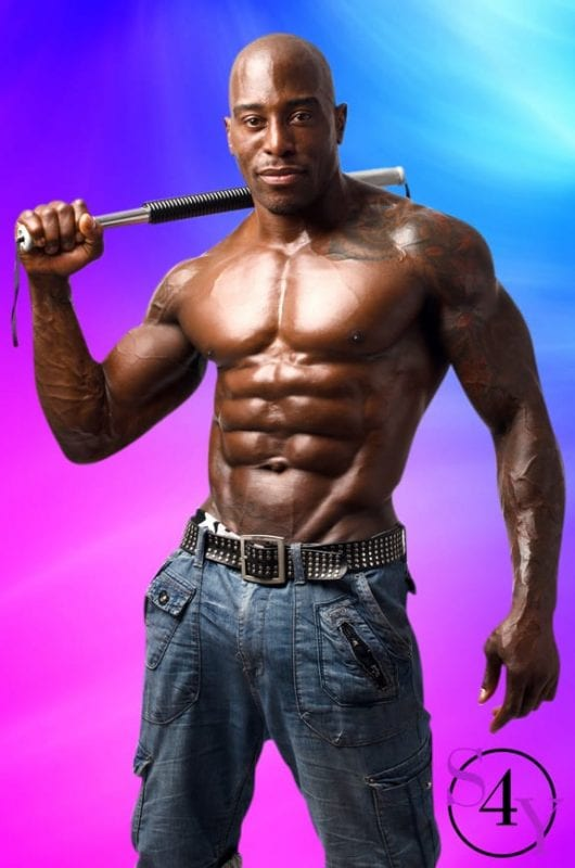black male stripper with huge muscles