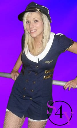 Lead Female Strippers as a flight attendant