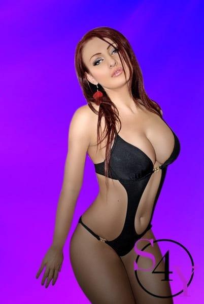 big breast redhead female
