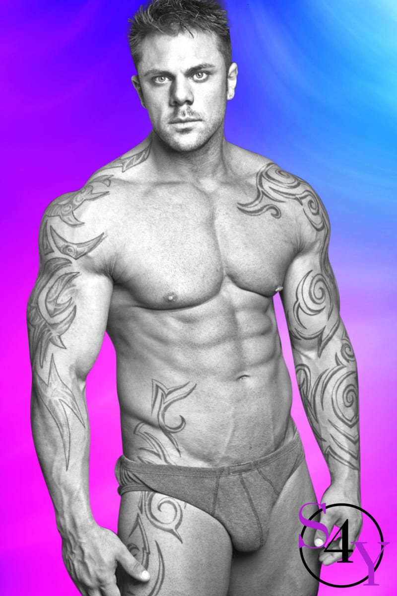 tattooed male stripper