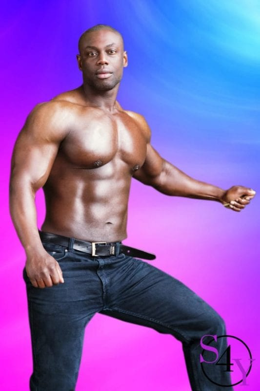 buff male black stripper