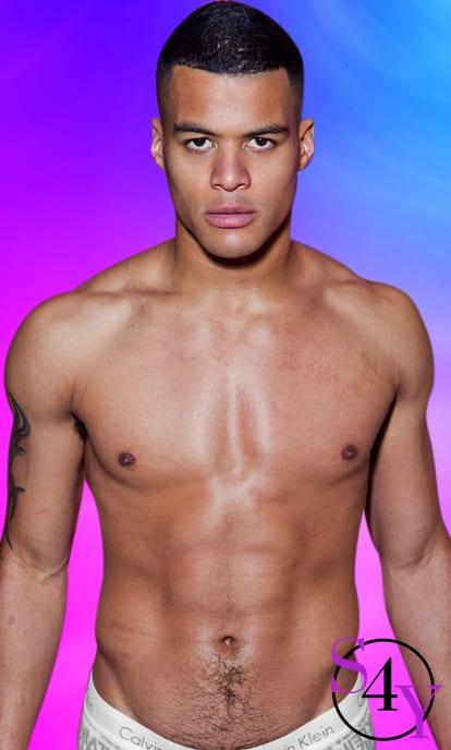 muscular male stripper