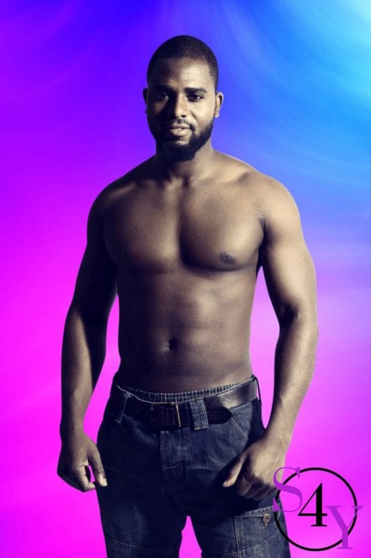 buff black male stripper