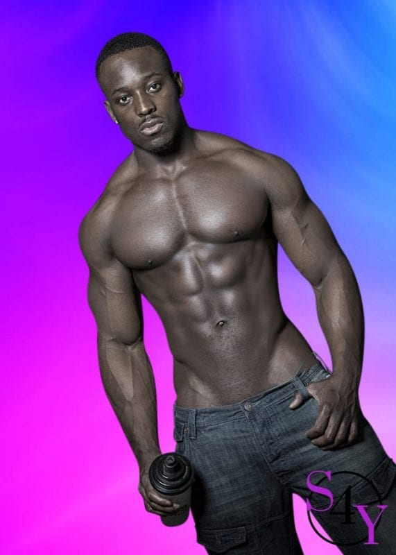 Buff black male exotic dancer