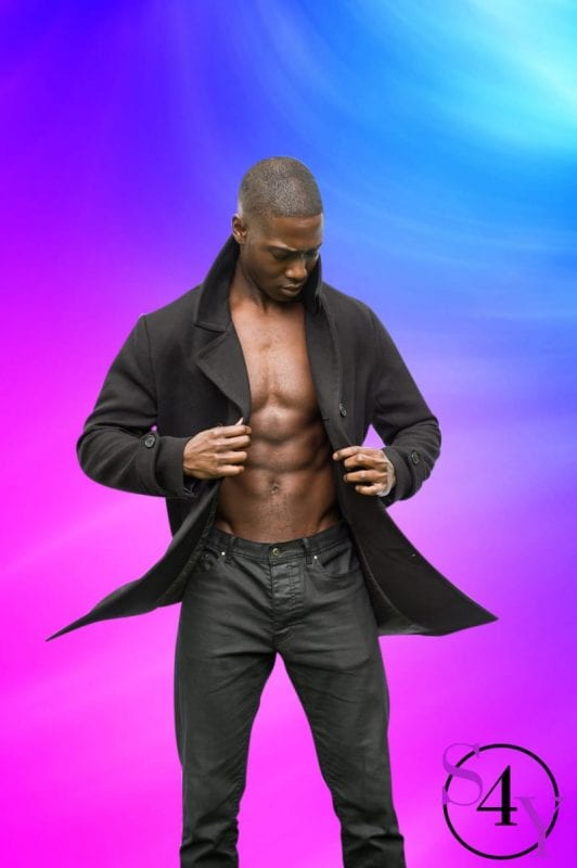 Black Male extoic dancer in black jacket