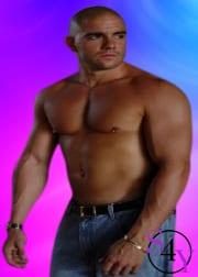 sexy buff male stripper