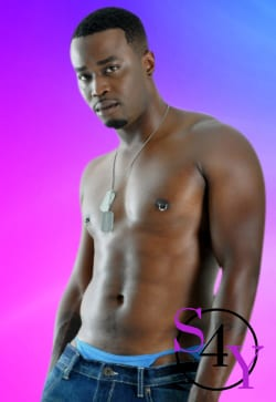 black male exotic dancer in jeans