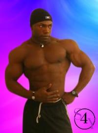 buff black male exotic dancer