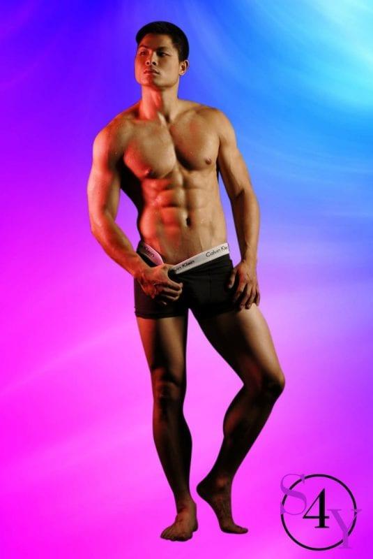 Muscle man in underwear