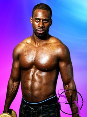 Black Male Lifting weights