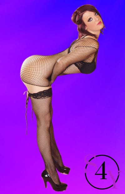 hot fish net female exotic dancer