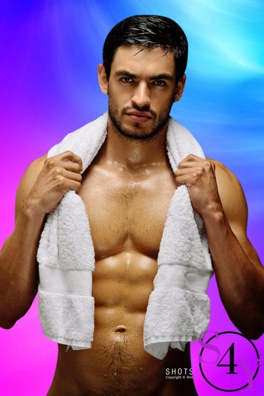 Hot guy only in towel
