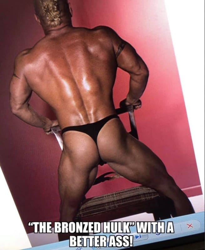 Bailey Male Stripper bronzed ass