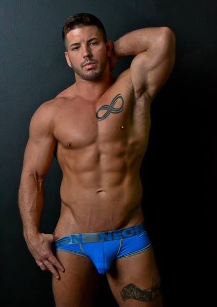 Damien- Sexy Richmond Male Strippers in blue thong