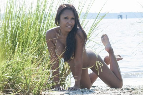 Keona- Richmond Female Strippers laying on the beach