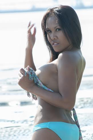 Keona- Richmond Female Strippers taking off bikini top